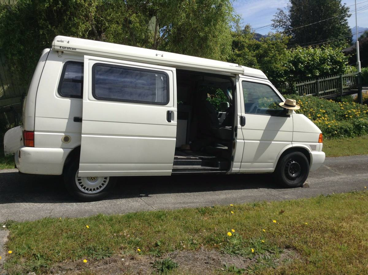 1997 vw eurovan camper v6 auto for sale in gibsons british columbia. Black Bedroom Furniture Sets. Home Design Ideas